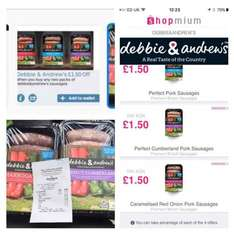 Debbie and Andrew Sausages, Free plus £1.50 profit! after coupon and cashback. £1.50 @ Morrisons