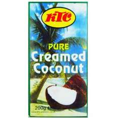 KTC Creamed Coconut 200g at B&M for 49p
