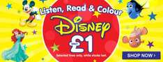 Listen, Read & Colour £1 Disney Event in store & online @ TheWorks.co.uk (free Click & Collect / £2.99 delivery [Free Del over £20])