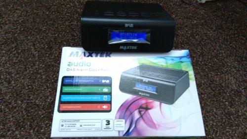 Maxtek DAB alarm clock radio £5.99 Aldi