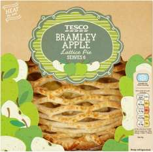 Tesco Bramley Apple Lattice Pie (500g) was £2.50 now £1.25 @ Tesco