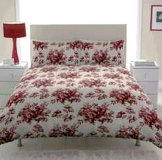 Chartwell Toile Floral Red Single Bed Cover Set £3 (more reduced check 1st comment) @ B&Q free c&c