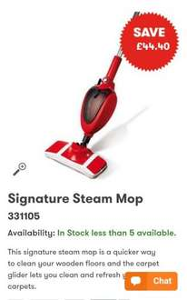 STEAM MOP £15.59 @ JTF