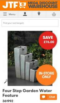 WATER FEATURE CONTEMPORARY £23.99 @ JTF