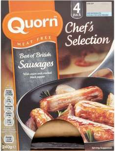 Quorn Chef's Selection Meat Free Best of British Sausages (4 per pack - 240g) was £2.20 now £1.00 @ Sainsbury's