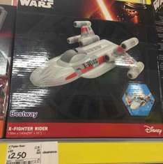 Star Wars X-Fighter Rider (pool inflatable) £2.50 In Store Asda Wrexham Island Green