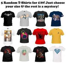 5 Branded T-shirts for £20 + postage @ Applausestore lucky dip