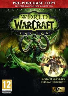 World of Warcraft Legion Expansion (Pre-Purchase) £24.99 @ Very