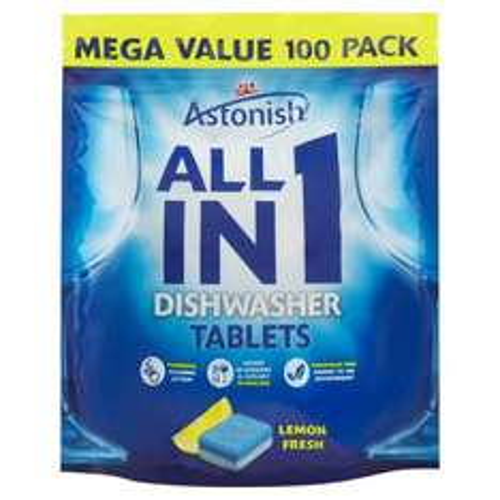 Astonish All in 1 Dishwasher Tablets Lemon Fresh 100 x 20g (2kg) ONLY £4.00 - Iceland