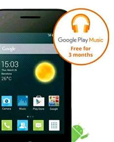 3mth Google play music, £20 credit and free Alcatel Pixi 3 £20 @ EE