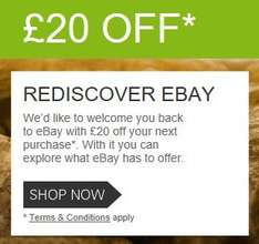Rediscover Ebay £20 off £25 spend with paypal (Invite only)