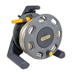 Hozelock compact 30m compact reel with 25m hose and connectors. £22.99 Wickes
