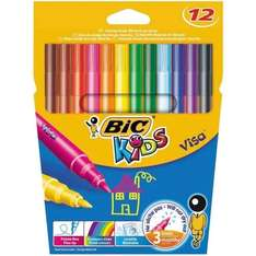 BiC Kids Visa Colouring Pens - Pack of 12 - £1.50 @ Amazon (Prime) (Add-on Item)