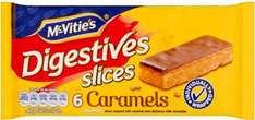 McVities Digestives Caramel Slices 6 per pack / McVitie's Chocolate Digestives Slices 6 per pack / McVities Hobnobs Milk Chocolate Slices 6 per pack was £1.45 now 64p @ Morrisons