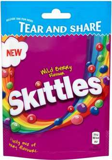 Skittles Fruits / Crazy Sours / Wildberry (174g) Pouch was 97p now 72p @ Tesco