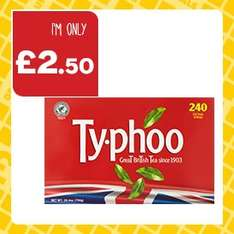 Typhoo Tea Bags (240) ONLY £2.50 @ One Stop Shop