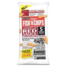 Burton's Fish'n'Chips Red sauce 5 pack 3 for £1 @ Farmfoods