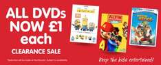 all dvds  and cds  £1 in store at b&m including Disney films!!