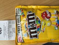M&M's 300g. Equivalent to 2 points for Cinema ticket (need 6 for ticket), £1.50 or £1.35 with NUS card at Co-op