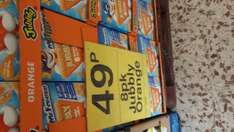 8 pack jubbly strawberry or orange 49p farmfoods