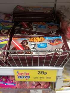 6 Chocolate bars with activity card inside, Star Wars endorsed for 29p @ HomeBargains