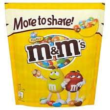 M&Ms 300g £1.50 at Morrisons.