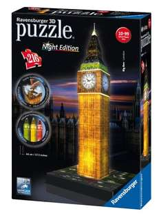 Big Ben 3D Puzzle With Lights was £24.99 now £11.87 prime / £16.62 non prime @ Amazon