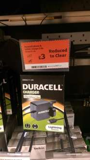 Duracell iphone / ipad charger 2.4 amp (Lightning) £3 Sainsburys instore