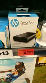 HP 7500mah power bank reduced price £12 @ Sainsbury's - withymoor, Westmoreland's
