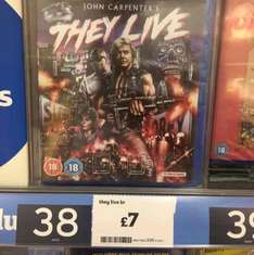 They Live bluray - £7 in Sainsbury's