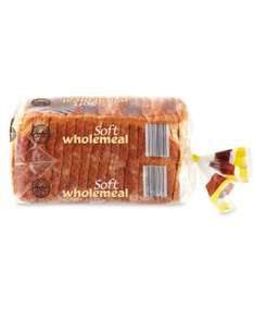 Soft Wholemeal Sliced Bread (800g) ONLY 45p @ Aldi