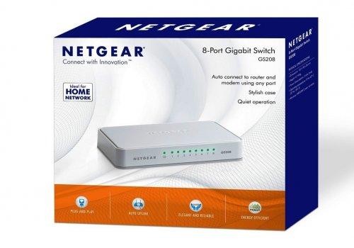 NETGEAR GS208-100UKS 8 Port Gigabit Ethernet 10/100/1000 Mbps Switch @ Amazon (Prime) £13.99 (non prime) £17.98