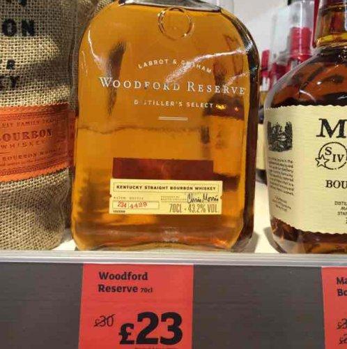 Woodford Reserve Bourbon Whisky £23 @ Sainsbury's