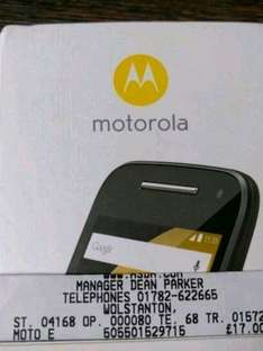 Motorola e 2nd gen on vodafone £17 @ Asda instore