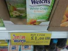 Welch's White Grape Juice Drink 1L Carton 2 for £1 @ Home Bargains