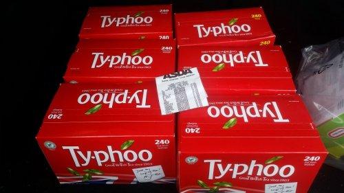 240 typhoo tea bags £1 asda (galashiels)