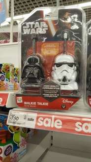 Star wars walkie talkies £7.50 instore at Asda