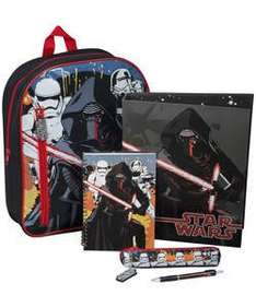 Star Wars Backpack and stationery set was £19.99 now £9.99 or 2 for £15 Click + Collect  @ Argos