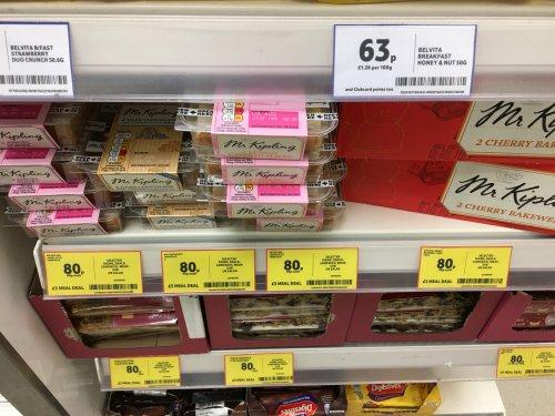 Mr Kipling cakes (2 slice) now part of £3 Tesco meal deal