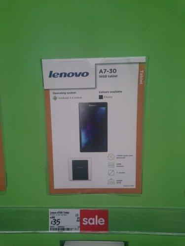 Lenovo tab 2 A7 £35 @ ASDA INSTORE York store
