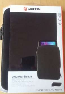 Griffin Universal Double Zipped Sleeve/Case For Larger Tablets/Hybrids,Black £1 @ Poundland