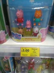 Peppy pig holiday figure pack £3 @ Tesco