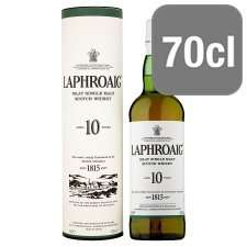 Laphroaig Islay Single (10 year old) Malt Whisky (70cl) ONLY £28.00 @ Amazon (Free Delivery)