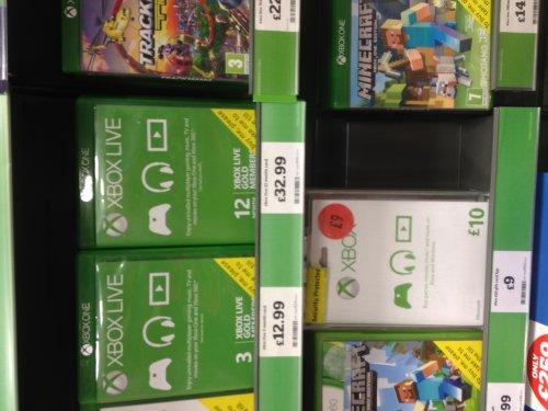 Xbox live gold 12 months £32.99 instore sainsburys