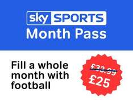 £25 Sky Sports Month Pass @ nowtv