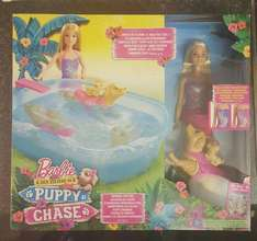 barbie ,with pool and dog £12.50 Tesco