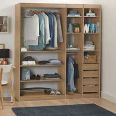 Natural Oak Effect Bedroom Storage Unit - £226 delivered @ B&Q