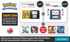 Nintendo New 3DS XL with Pokemon, case & charger £199.98 Nintendo Store