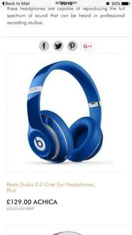 Beats by dre £129.09 + £4.99 del @ Achia
