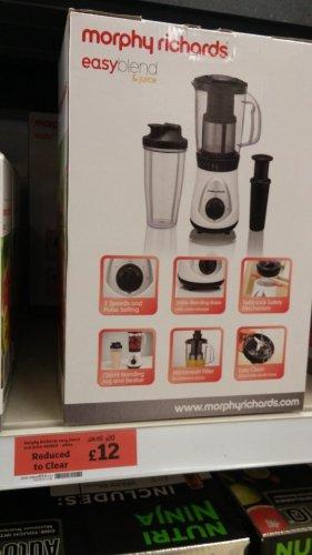 Morphy Richards easyblend & juice 403020 RTC for £12 @ Sainsburys